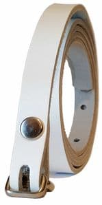 12.5 mm White Snap Fit Leather Belt (½