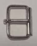 "25mm (1"") Roller Buckle Nickel Plated Light. Code ZX6"
