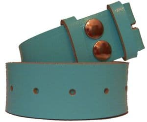 38mm Baby Blue  Leather Snap Fit