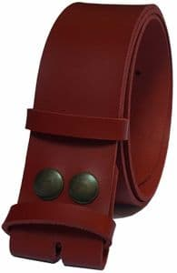 45mm Red Snap Fit Leather Belt