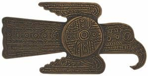 Aztec Raven Belt Buckle - hammer & punch required to fix to a belt