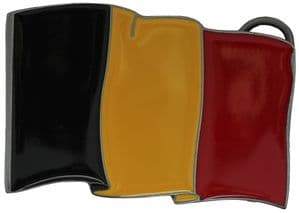 Belgium Flag Belt Buckle with display stand (LH8)