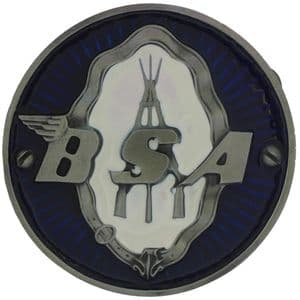 BSA Round Logo -Blue. Belt Buckle with display stand (LD7)