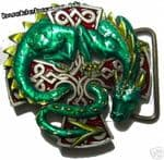 CARADOC - DRAGON & CROSS Belt Buckle + display stand