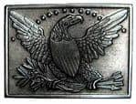Cavalry 1840 Belt Buckle with display stand. Product code: LJ8
