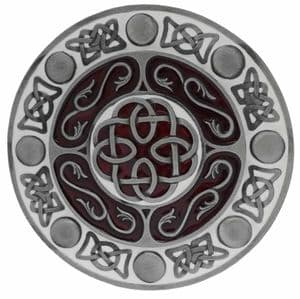 Celtic Round Belt Buckle with display stand. Product code: LF1