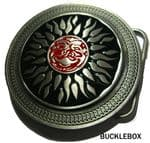 CELTIC SUN Belt Buckle + display stand