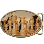 Chess Pieces Belt Buckle. Code A0060