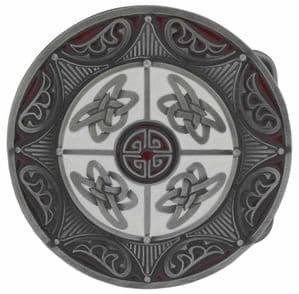 Eight Point Celtic Round Belt Buckle with display stand (KM4)