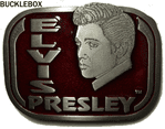 Elvis Presley Face - Belt Buckle + display stand - Limited Edition 10,000. Code PD3