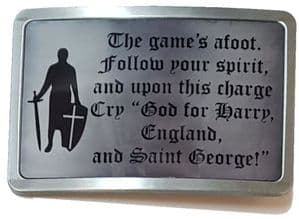 England Saint George Buckle. Leather belt optional. Code A0100