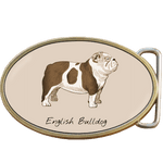 English Bulldog Belt Buckle. Code A0064