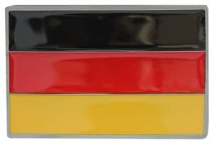 German Flag Belt Buckle with display stand. Code LG2