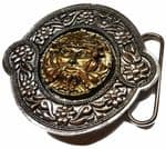 Gold & Silver Plated Celtic Tree Man Belt Buckle with display stand. Code LM8