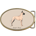 Great Dane Dog Belt Buckle. Code A0067