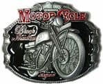 H.R.D. Vincent Black Shadow Motorcycle Belt Buckle with display stand. Code TT8