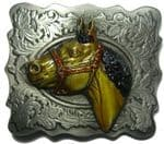 Horse Head Belt Buckle + display stand. Code EK2