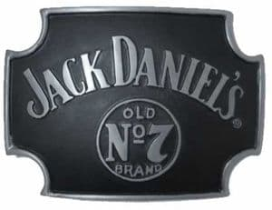 Jack Daniel's Cross Old no 7 Officially Licensed Belt Buckle + display stand. Code BUC065