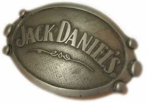 Jack Daniel's Oval Officially Licensed Belt Buckle + display stand. Code BUC068
