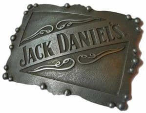 Jack Daniel's Plate Old no 7 Officially Licensed Belt Buckle + display stand.