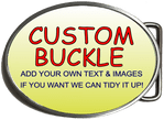 Large Custom Personalised Design Your Own Belt Buckle - Large Oval