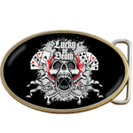 Lucky or Death Ace of Spades Skull Belt Buckle. Code A0056