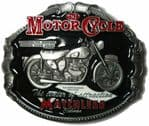 Matchless Motorcycle Belt Buckle + display stand. Code PD5