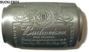 Officially Licensed Budweiser Can Belt Buckle + display stand