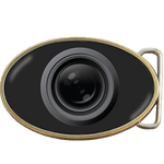 Photographer Camera Lens Belt Buckle. Code A0074