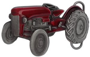 Red Tractor Belt Buckle with display stand (LB5)