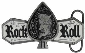 Rock n Roll Demon Belt Buckle with display stand (LF4)