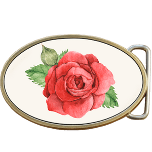 Rose Flower Petals Belt Buckle. Code A0087