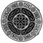 Round Celtic Design Belt Buckle with display stand. Code BA5