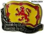 Scotland. Scottish by the Grace of God Belt Buckle + display stand. Code AC3