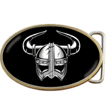 Viking Helmet Belt Buckle. Code A0043