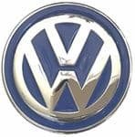 VW Blue Logo Officially Licensed Belt Buckle with display stand and presentation box. Code VW13