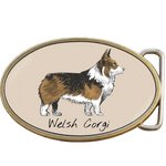 Welsh Corgi Dog Belt Buckle. Code A0072