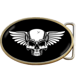 Winged Skull Belt Buckle. Code A0045