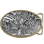 Zebra Stripes Belt Buckle. Leather belt optional. Code A0101