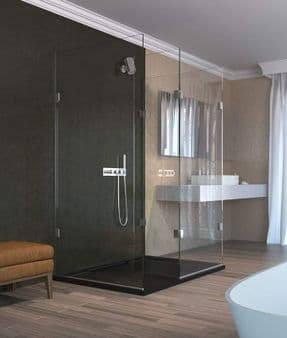 The Shower Lab View 19.3F Walk-in Shower Enclosure with End Return Panel