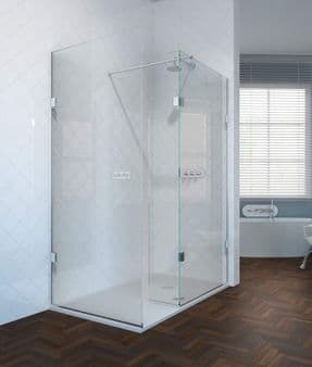 The Shower Lab View 19F Walk-in Shower Enclosure with End Return Panel