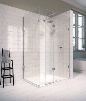 The Shower Lab View 19H Walk-in Shower Enclosure with End Return Panel
