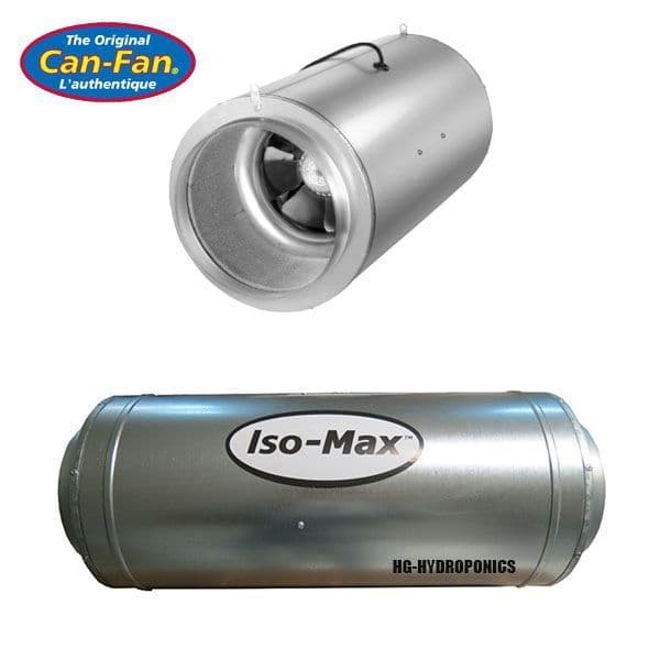 """10"""" Can iso-Max Silent AC Fan 1480 M3/HR"""