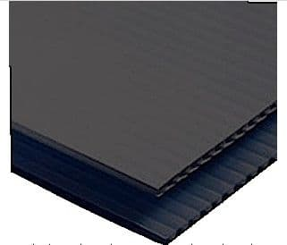 Corex Corrugated plastic sheets Black