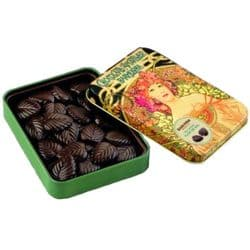 Amatller Dark Chocolate Leaves with Flor de Sal | Spanish | Buy Online | UK | Europe