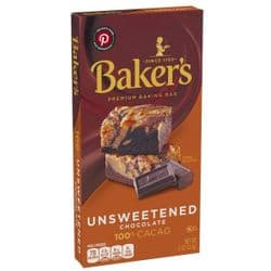 Baker's Unsweetened Chocolate | American | 100% Pure Cacao | Buy Online | UK | Europe