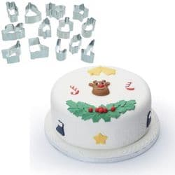 Christmas Fondant Cutters | Set of 13 | Buy Online | UK