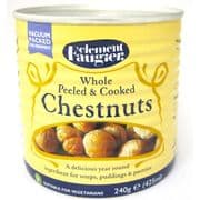Clement Faugier Whole Peeled & Cooked Chestnuts (Vacuum Packed) - 240g