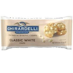 Ghirardelli White Chocolate Chips |  312g, 11 oz | American | Buy Online | UK