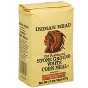 Indian Head White Corn Meal, American  (907g, 2lb)